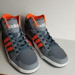Adidas NEO Kids Boys Orange Gray MID Size 6